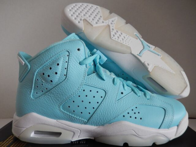 new product 2d75d 0db16 Nike Air Jordan 6 Retro GG Still Blue/white Size 6.5y Women 8m