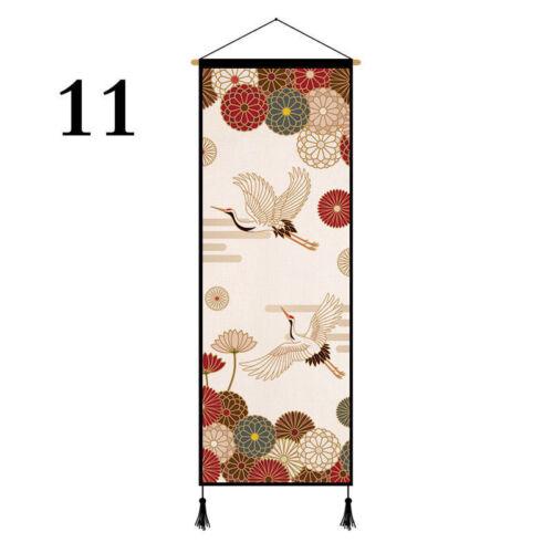 Japanese Printed Tapestry Wall Hanging Banner Flag Sushi Restaurant Retro Decor