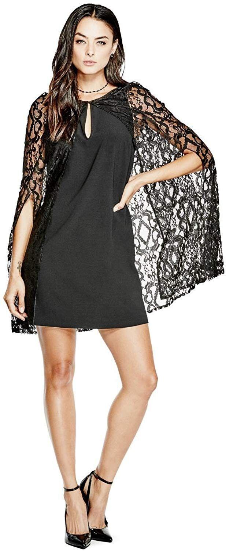 GUESS Kimber Lace Lace Lace Cape Dress SIZE S 912bea