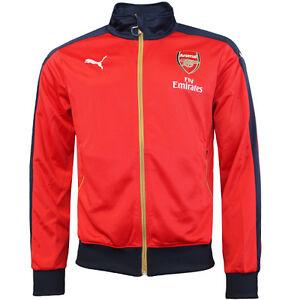 f74f0018158 Puma AFC Arsenal FC Stadium Mens Zip Jacket With Sponsor 747598 01 ...