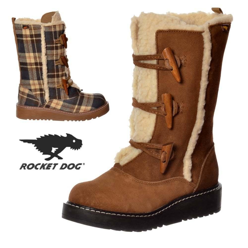 donna Rocket Dog Giacca con lacci calda fodera inverno inverno inverno neve sci stivali grigio a38afa