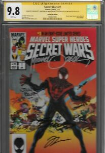 Secret-Wars-1-Miles-Morales-Ultimate-Fallout-4-Variant-CGC-9-8-SS-Zeck-Heroes-4x