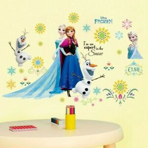 Frozen Sister forever Wall Sticker Nursery Kids Room Removable Mural Decal Decor