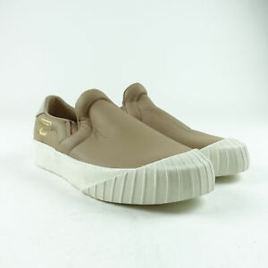 86b584375e0 Adidas Women s Everyn Slip On Leather Shoes Size 6 Brown White ...