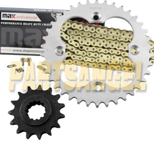 Gold O-Ring Chain 15//38 Sprocket 1999-2004 2000 2001 02 Honda TRX400 EX Sportrax