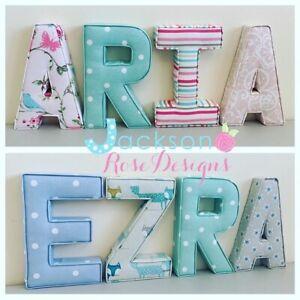 Nursery-Letters-Wall-Art-Handmade-Fabric-name-personalised-girl-boy
