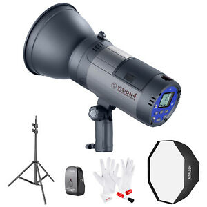 Neewer Vision 4 Battery Powered Outdoor Studio Flash Strobe Kit with Softbox