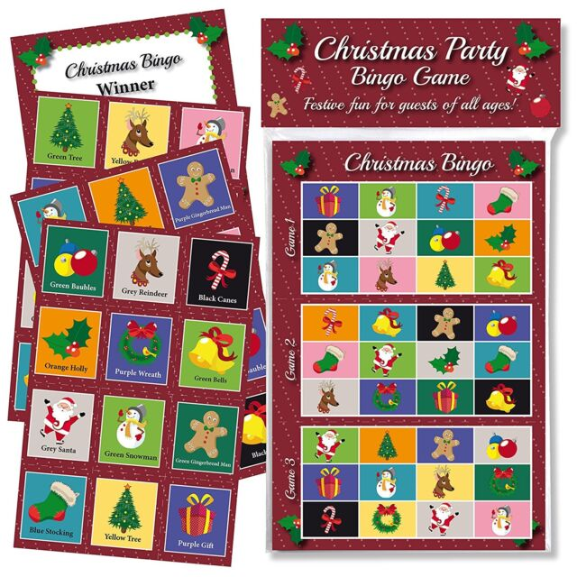 Christmas Party Bingo Game Fun Games