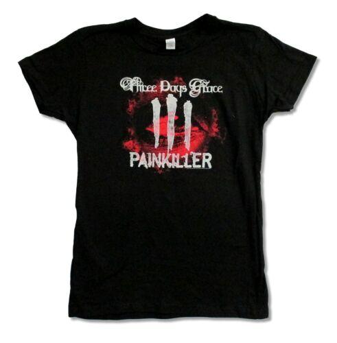 Three Days Grace Pain Killer Girls Juniors Black T Shirt New Official Band Merch