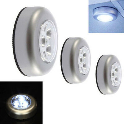 Silver Touch Light Bulbs Wireless Cordless Battery Operated LED Night Wall Lamps