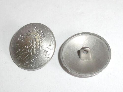 6 Stück Metallknöpfe Knopf Ösenknopf  23 mm silber NEUWARE rostfrei  #302.2#