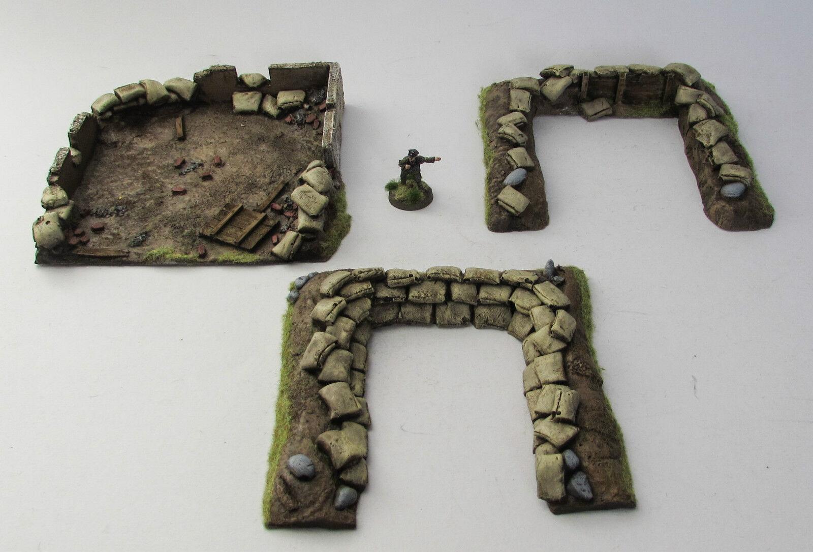 World War 2 Mandertory Miniatures resin 28mm Europe Emplacement set, Bolt Action