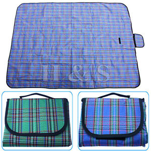 X Large 57x79 Waterproof Picnic Blanket Beach Mat Camping Travel