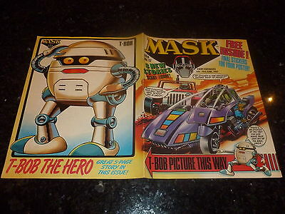 MASK Comic No 24 UK Paper Comic Date 12//09//1987 Inc Center Page Poster
