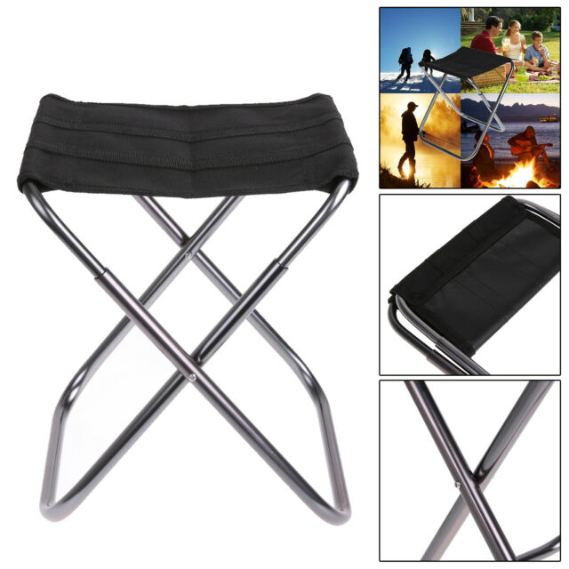2x Portable Aluminum Folding Chair Stool Seat For Outdoor Fishing Camping Picnic