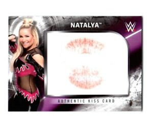 WWE-Natalya-2018-Topps-Authentic-Kiss-Card-SN-98-of-99