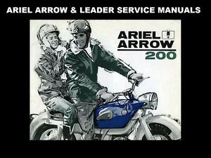 ariel arrow leader workshop manual 240pgs for 250cc motorcycle rh ebay co uk Ariel Arrow Expansion Chambers Ariel Leader