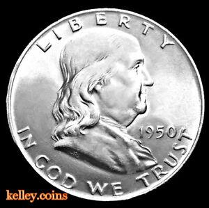 1950-50C-Franklin-Silver-Half-Dollar-BU