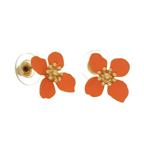 1.8cm Naranja y Oro Flor Aretes o Islas Y Estrellas I18