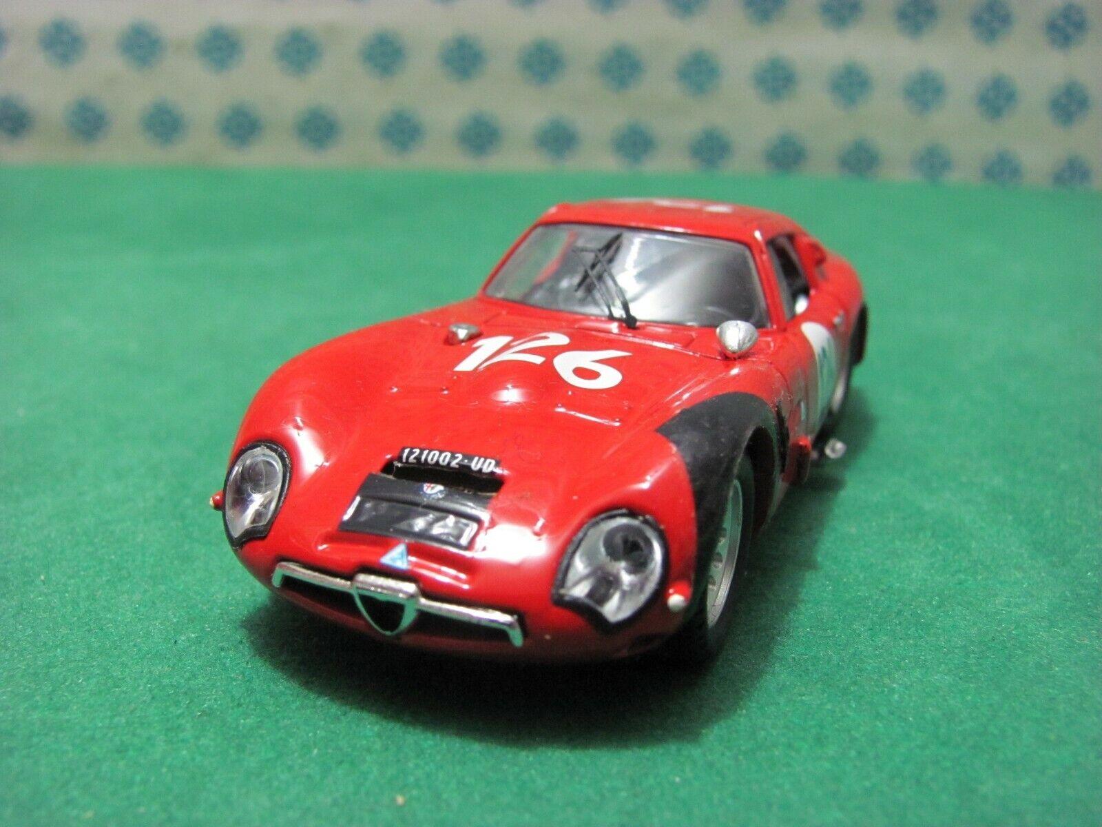 clásico atemporal ALFA ROMEO Giulia TZ 2  Zagato coupè 1600 1600 1600  T. Florio 1966   - 1 43 Best 9105  salida
