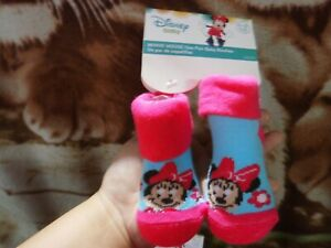 CLOSEOUT-SALE-Imported-From-USA-Minnie-Mouse-Baby-Booties-0-12M-E-3