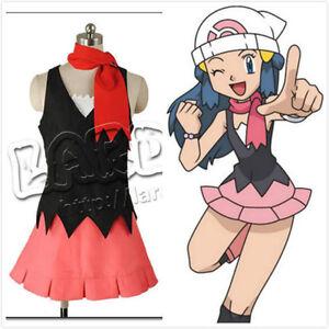 Image is loading Pocket-Monsters-Pokemon-Dawn-Dress-cosplay-costume  sc 1 st  eBay & Pocket Monsters Pokemon Dawn Dress cosplay costume   eBay