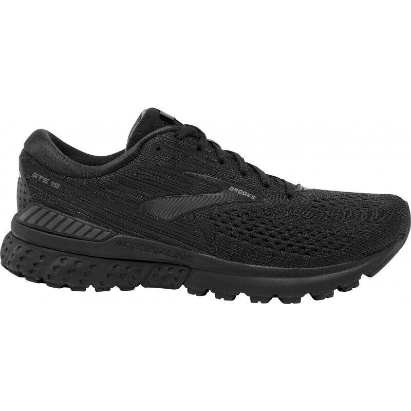 Mannens Brooks Adrenaline Gts 19 Breed Fit mannens hardlopen schoenen --zwart 1