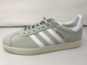official photos 80899 8eeb6 Image is loading NEW-NWOB-WOMENS-ADIDAS-Gazelle-Mint-White-Shoes-