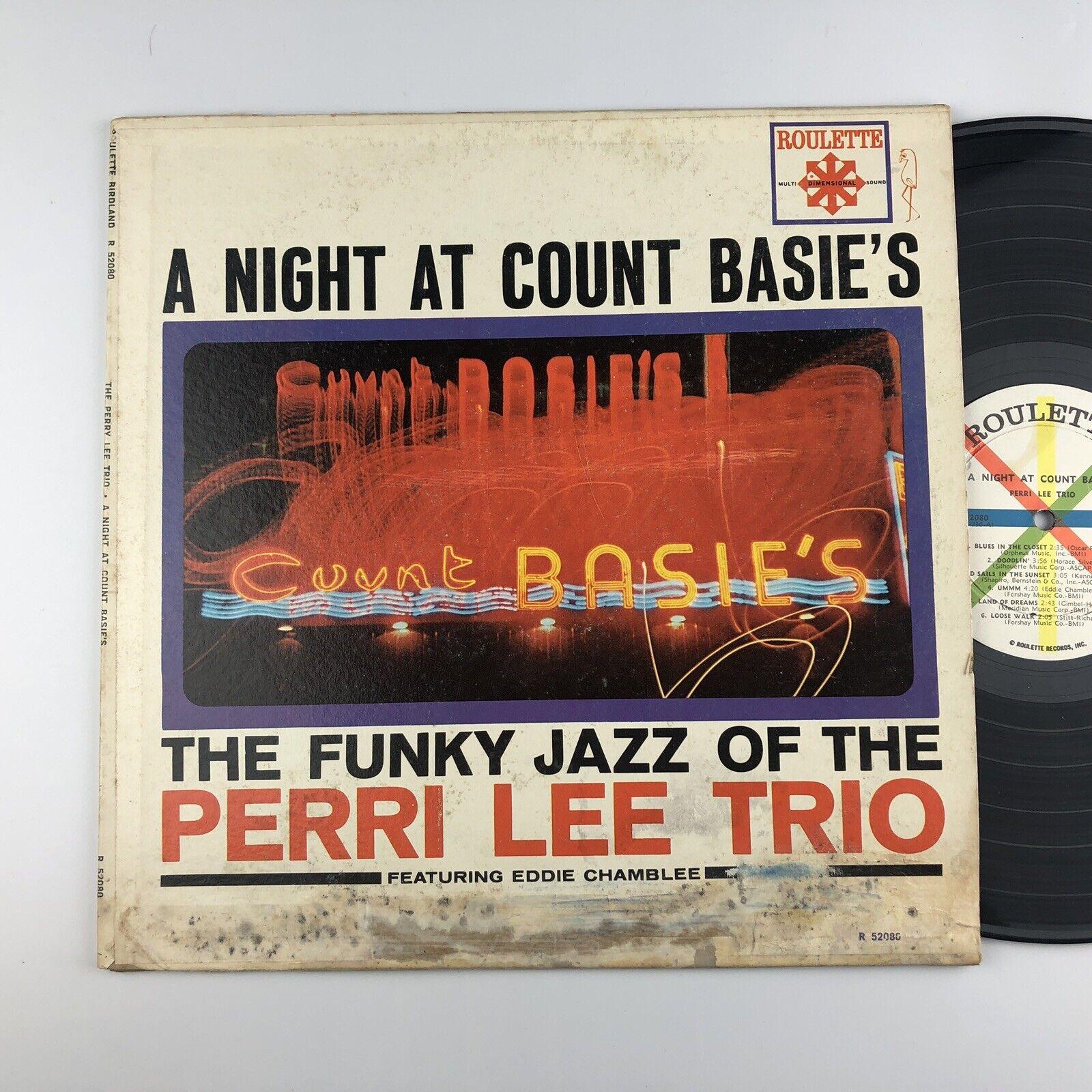 Image 1 - PERRI LEE TRIO A Night At Count Basie's ROULETTE LP RARE mono 52080 VINYL