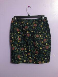 Women-s-Black-amp-Floral-Printed-Esprit-Skirt-Size-7-8