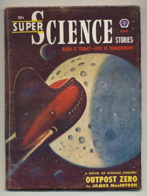 Super Science Stories August 1951 Vintage Pulp Magazine Very Good Plus