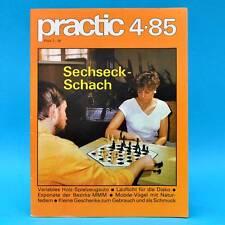 DDR practic 4/1985 Sechseckschach Segeljolle Spielzeugauto Hausklub Lauflicht K