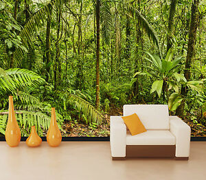 3D Greenway forest Rainforest Wall Paper Print Decal Wall Deco Indoor wall Mural