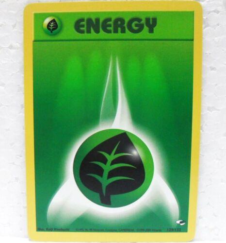 129//132 Inglese-MINT//NEAR MINT POKEMON GYM HEROES GRASS ENERGY