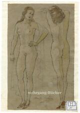 Akt, nackte Dame. Mayer-Salzburg (1890-1976) Lavierte Bleistiftzeichnung v. 1948