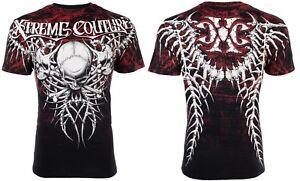 Bien éDuqué Xtreme Couture By Affliction T-shirt Homme Bare Bones Skull Tattoo Biker Ufc 40 $-afficher Le Titre D'origine