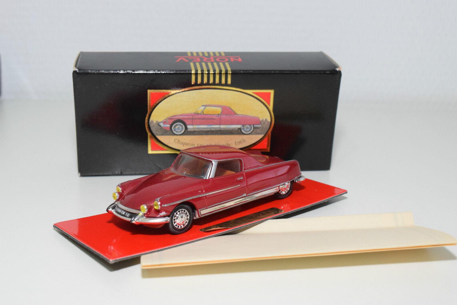 . . . NOREV LIGNE black CITROEN CHAPRON DS 19 COPUE DANDY 1965 MET. PINK MINT BOXED 58ba1c