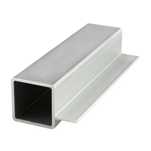 "Tube w// Single .5/"" Flange #9005 x 96 N 8020 Inc 1/"" x 1/"" Aluminum Quick Frame Sq"
