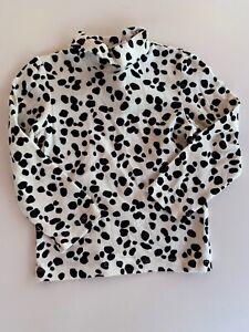 GYMBOREE-Girls-LS-Turtleneck-Shirt-B-amp-W-DALMATIAN-Print-Size-3t-GUC