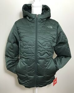 2779e69d2 Details about The North Face Women's Rhea Down Jacket Coat Darkest Spruce  Heather Sz S
