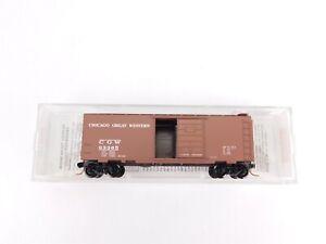 N-Scale-MTL-Micro-Trains-20466-CGW-Chicago-Great-Western-40-039-Box-Car-93365-RTR