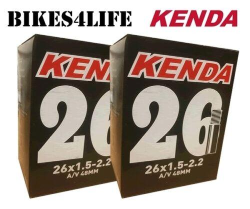 KENDA CYCLE SCHRADER 48mm VALVE INNER TUBE 26 X 1.75  KT36E QUANTITY OPTION