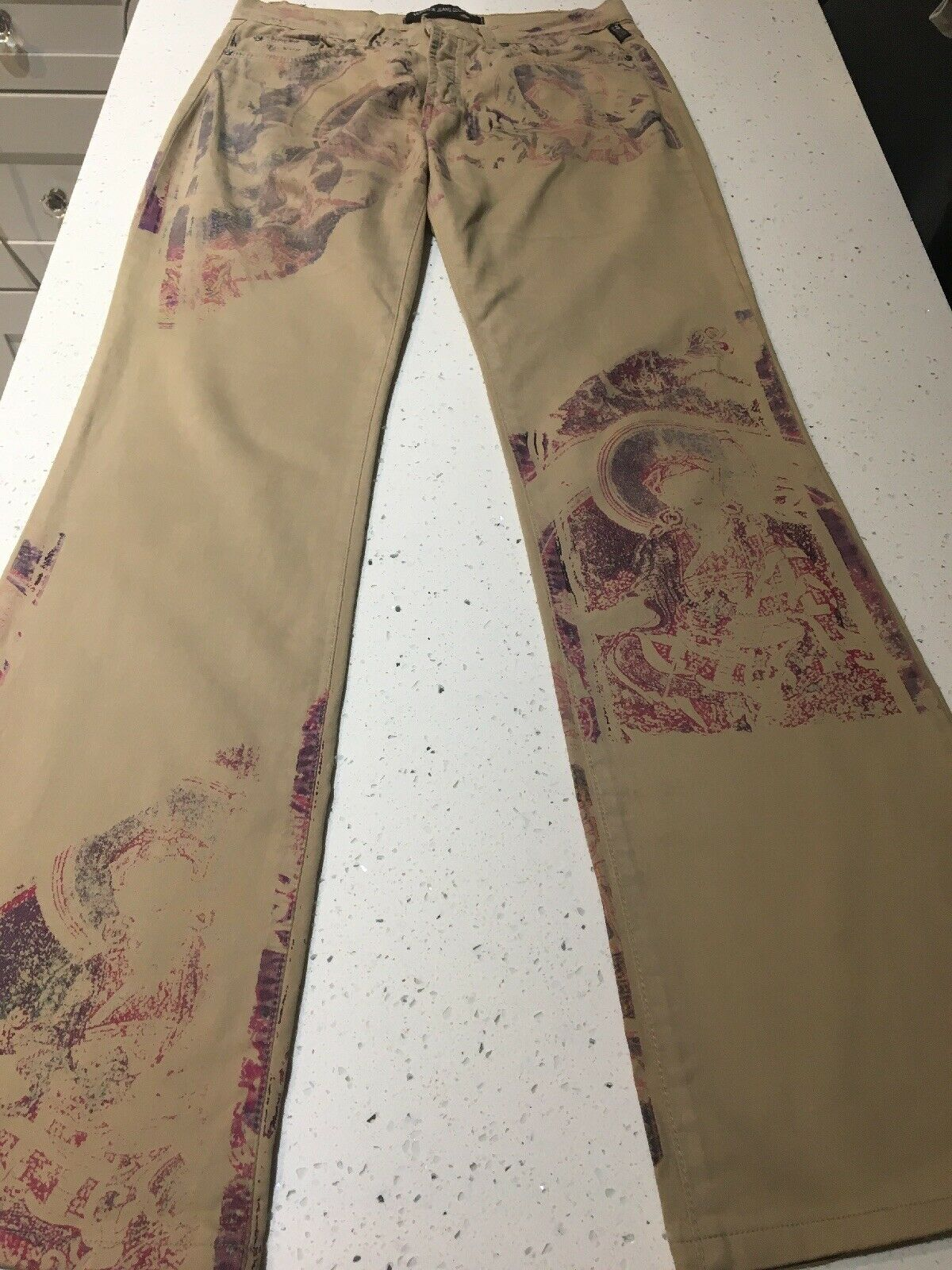Women's Vintage Versace Jeans Couture Brown Pants Buddah Red (size 29 43) Gianni