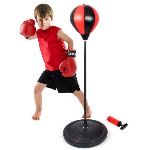 Regolabile BAMBINI punzonatura Ball Boxe KIT Guanti Palla Altezza POMPA regalo di formazione