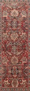 Antique-Traditional-Mahal-Sarouk-10-ft-Runner-Rug-Hand-knotted-Wool-4-039-x10-039