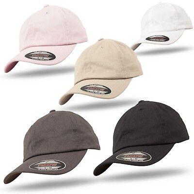 Original Flexfit Cap Cotton Till Dad Hat Basecap Baseball Mütze Kappe Unisex BüGeln Nicht