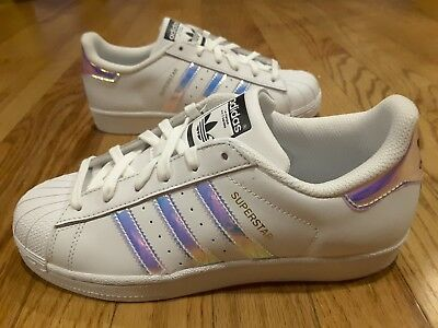 adidas superstar original white hologram iridescent junior (aq6278)