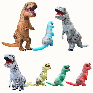 Image is loading Hot-Inflatable-Dinosaur-T-REX-Costume-Fantasia-Adults-  sc 1 st  eBay & Hot Inflatable Dinosaur T- REX Costume Fantasia Adults Halloween ...