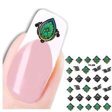 3D Nagel Sticker Medaillon Nail Art Pfau New Design Kult Aufkleber Water Decall