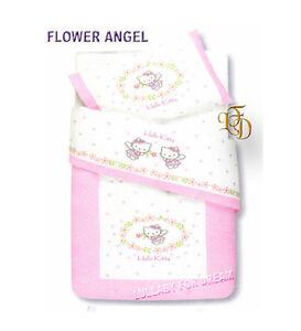 Copriletto Hello Kitty Gabel.Copriletto In Piquet Hello Kitty Flower Angel Coperta Lettino Beby